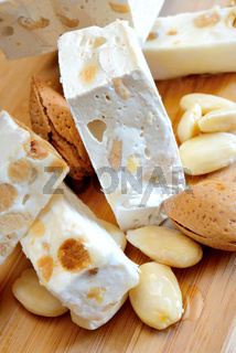 honey nougat with almonds