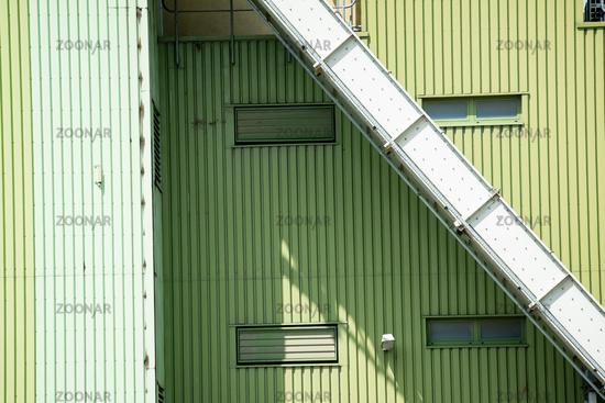 Gebäude eines Biomassen Kraftwerks