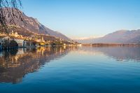 beautiful Iseo lake panorama