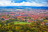 Bamberg. Aerial panoramic view of town of Bamberg