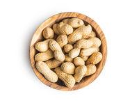 Tasty unpeeled peanuts.