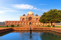 Humayun's Tomb in India, Delhi, front view