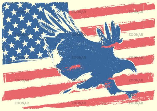 stars, stripes and eagle