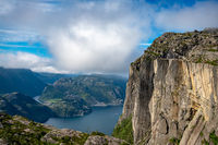 Pulpit Rock Preikestolen Beautiful Nature Norway