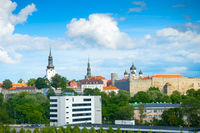 Skyline Tallin castle churches Estonia