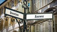 Street Sign to Answer versus Question