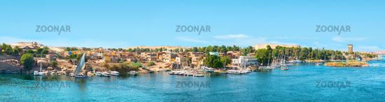 Panoramic view of Aswan