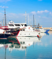 Marina,  yachts,motorboats, summer, Cyprus