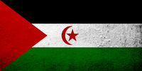 The Sahrawi Arab Democratic Republic (Western Sahara) national flag. Grunge background