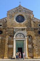 Facade of the Cathedral - Volterra