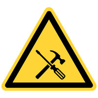 Werkzeuge und Warnschild - Tools and danger sign