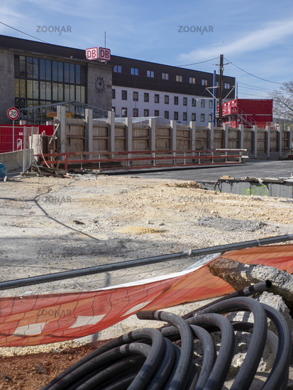 Construction Site at Ulm Main Station