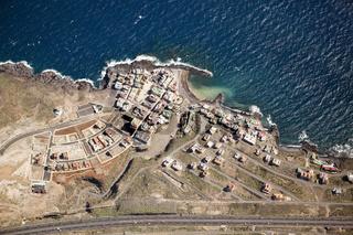 Luftaufnahme der Kueste bei Las Eras, Teneriffa