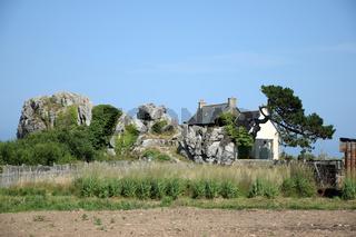 An der Küste bei Plougrescant, Bretagne