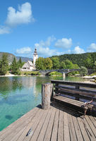 am Bohinjsee im Triglav Nationalpark,Slowenien