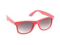 Red sunglasses, isolated on white background. Eye protection, summer, hipster concept.