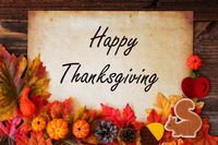 Old Vintage Paper With Happy Thanksgiving, Colorful Autumn Decoration