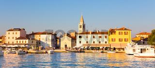 Panoramic view of Fazana village, Croatia.