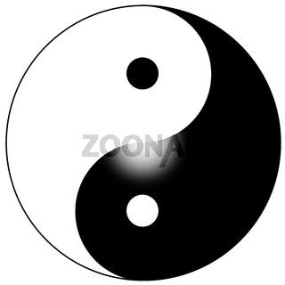 zeichen symbol yin yang verlauf konzept