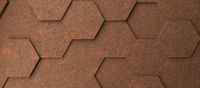 Rostige Wabenmuster Textur als Hintergrund