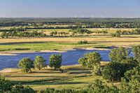 Blick über das Tal der Elbe beim Höhbeck, Niedersachsen