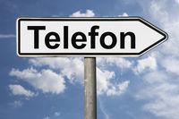 Wegweiser Telefon | signpost Telefon (Telephone)