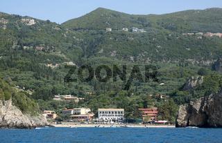 Küste bei Paelokastritsa auf Korfu