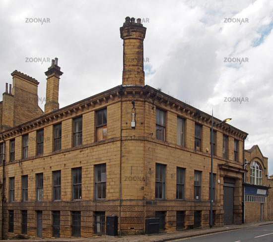 an old 19th century industrial building in the historic little germany district in bradford west yorkshire