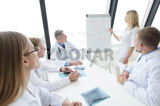Doctors discuss mental health concept