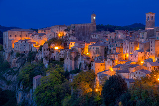 Evening in the Old Italian Town