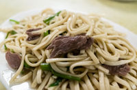 dry noodles with beef