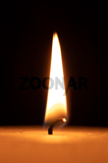 Flame of a candle light, makro shot