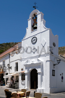 MIJAS, ANDALUCIA/SPAIN - JULY 3 : Typical Street Cafe in Mijas   Andalucía Spain on July 3, 2017