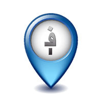 Afghan afghani symbol on Mapping Marker vector icon.