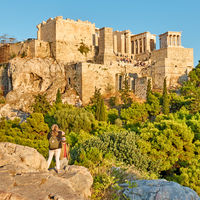 People taking photos on The Areopagus