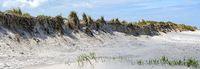 Panorama der erodierten Sandküste an der Ostsee bei Zingst