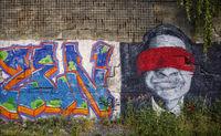 ROCKWERK Hof - Graffiti an der alten Mauer