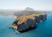 Aerial view coastal town of Javea. Spain