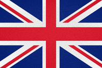 british flag of United Kingdom UK or Great Britain printed on leather
