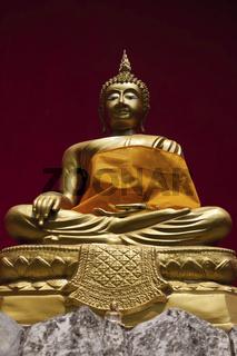 Buddha Statue im Tempel Wat Buppharam in Chiang Mai - Buddha Statue in the Temple Wat Buppharam in Chinag Mai