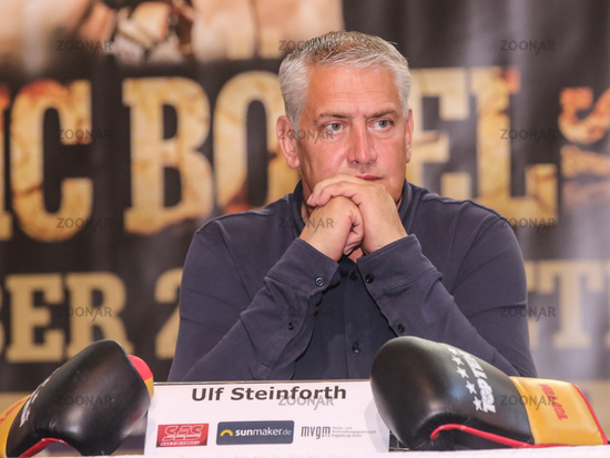 SES Boxing Box-Promoter Ulf Steinforth bei der PK zur SES-Boxing-Gala am 22.09.2020 in Magdeburg