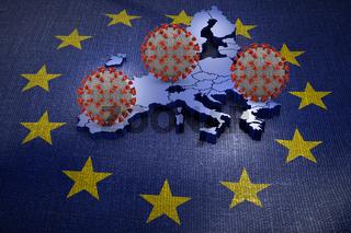 Coronavirus European Union map