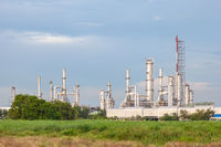 Oil refinery industrial factory