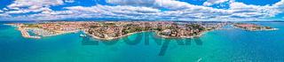 City of Zadar aerial panoramic view