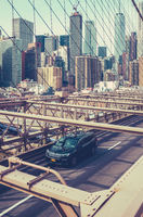 Traffic On Brooklyn Bridge, NYC