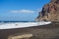 Die beruehmte Playa del Ingles in Valle Gran Rey auf der Insel La Gomera