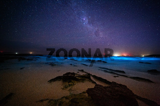 Bioluninescence and stars in Australia