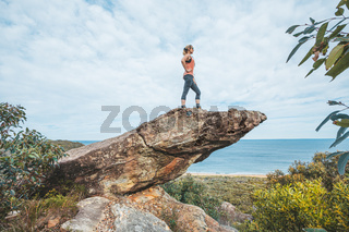 Standing on this balancing rock to view grand scenic views