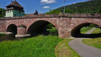 Hirsau im Schwarzwald, Brücke über die Nagold mit