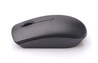 Side view of black wireless computer mouse